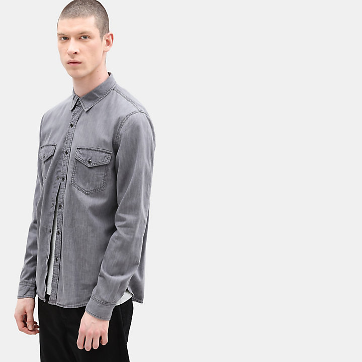 Mumford River Denim Shirt for Men in Grey-