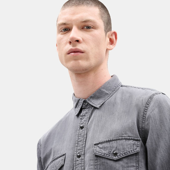Mumford River Denim Shirt for Men in Grey | Timberland