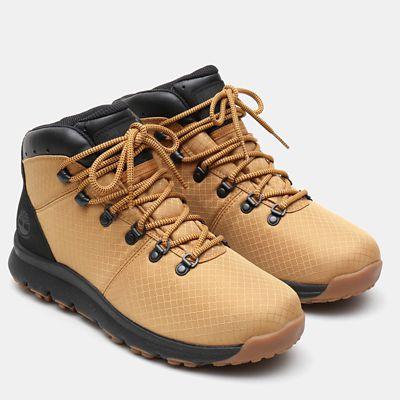 Chaussure de randonnée en tissu World Hiker pour homme en jaune