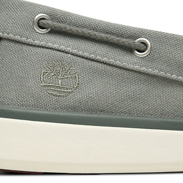 Gateway Pier Boat Shoe for Men in Grey-