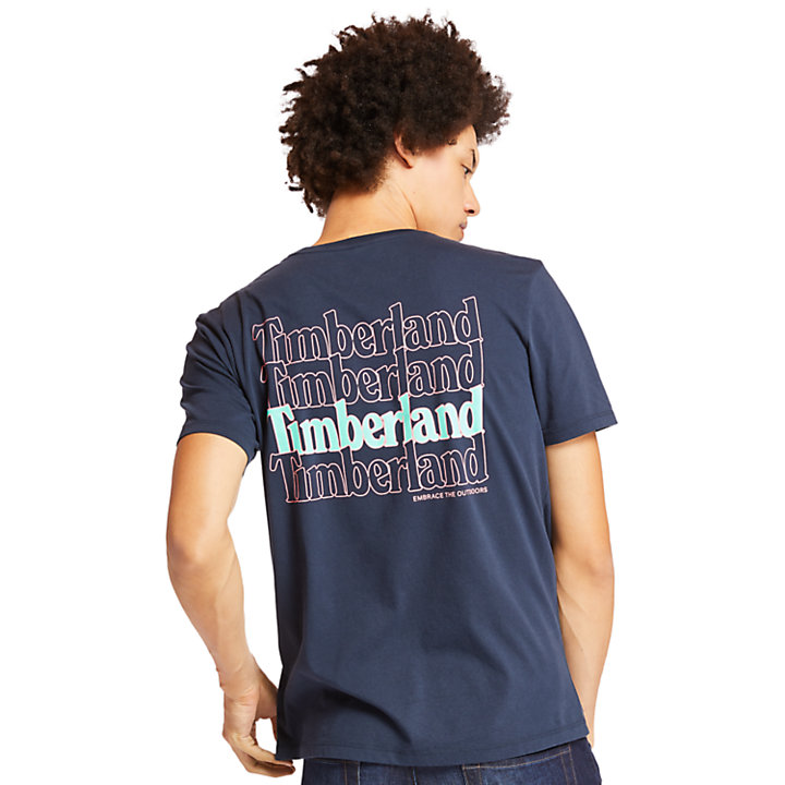 Kennebec River Graphic T-Shirt for Men in Navy-