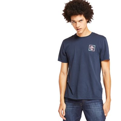 Kennebec+River+Graphic+T-Shirt+for+Men+in+Navy