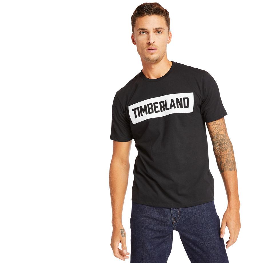 Mink Brook Timberland® T-shirt For Men In Black Black, Size S