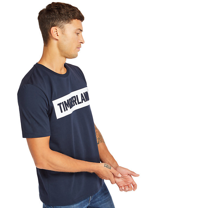 Mink Brook Timberland® T-Shirt for Men in Navy-