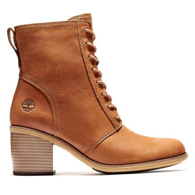 Mid+Lace-up+Boot+for+Women+in+Brown