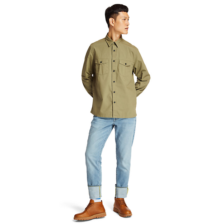 Saco River Cargo Shirt for Men in Green-