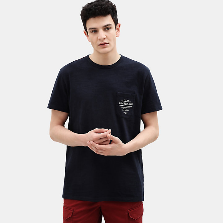 Workwear T-Shirt für Herren in Marineblau-