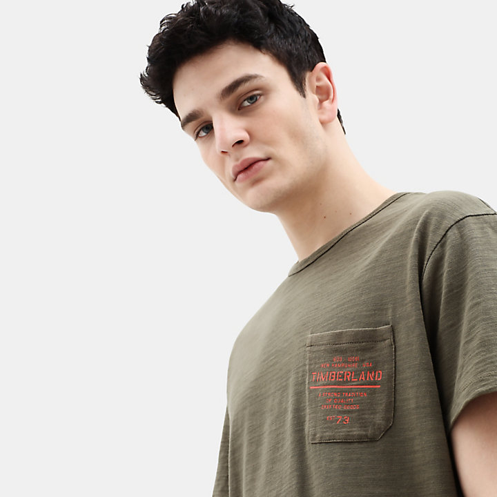 Workwear T-Shirt for Men in Dark Green-