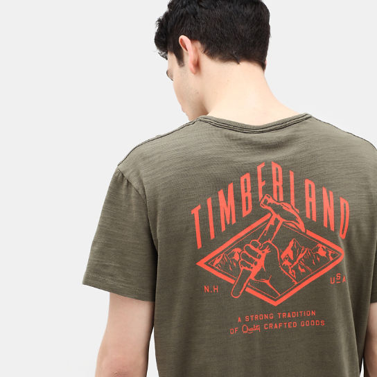 Workwear T-Shirt for Men in Dark Green | Timberland