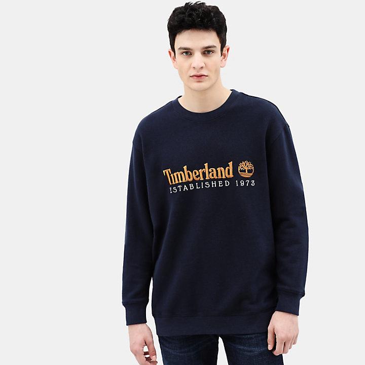 Archive Crew Sweatshirt for Men in Navy-