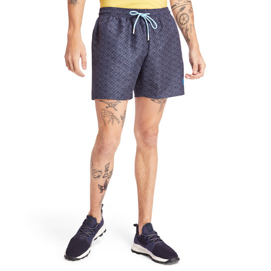 Sunapee Lake Print Swim Shorts for Men in Navy | Timberland