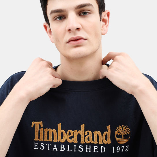 Archive T-shirt voor Heren in marineblauw | Timberland