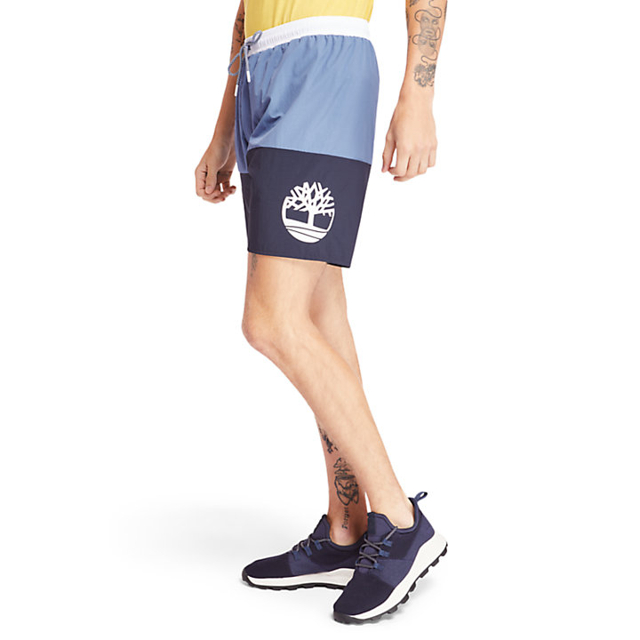 Sunapee Lake Swimming Shorts for Men in Blue-