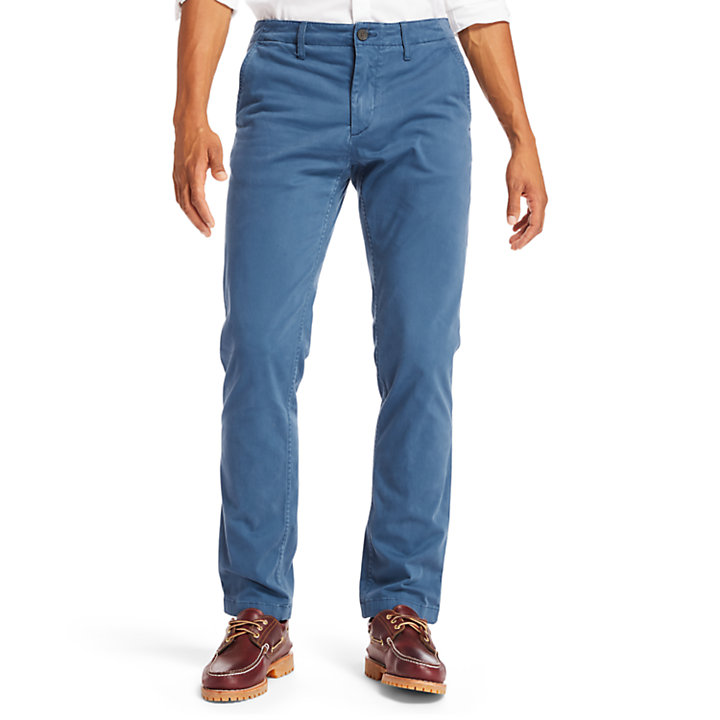 Squam Lake Ultra Stretch Chinos for Men in Indigo-
