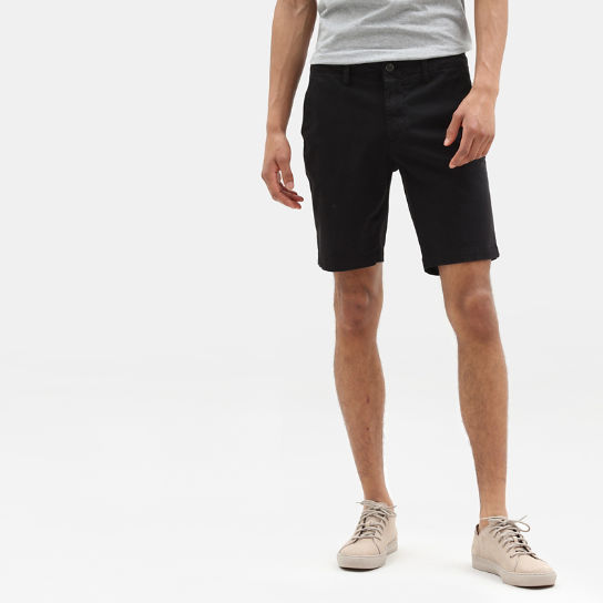 Shorts Chino da Uomo Squam Lake in colore nero | Timberland