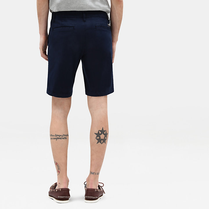 Shorts Chino da Uomo Squam Lake in blu marino-