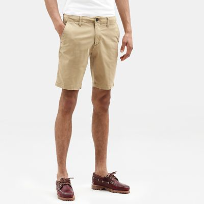 Squam+Lake+Chino+Short+voor+Heren+in+kaki