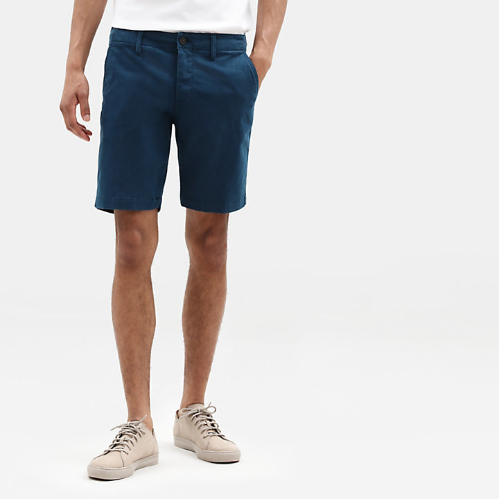 Short chino Squam Lake pour homme en Bleu sarcelle-