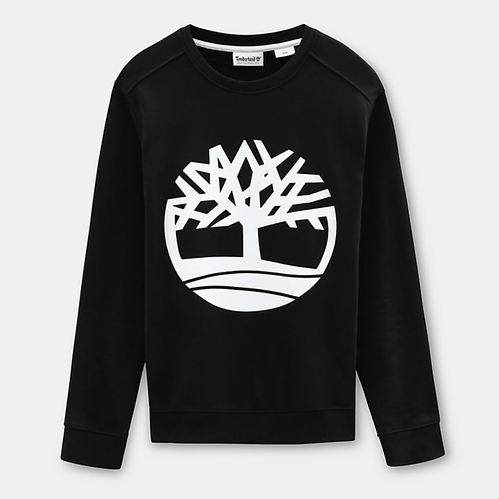 Tree Sweatshirt for Men in Black-