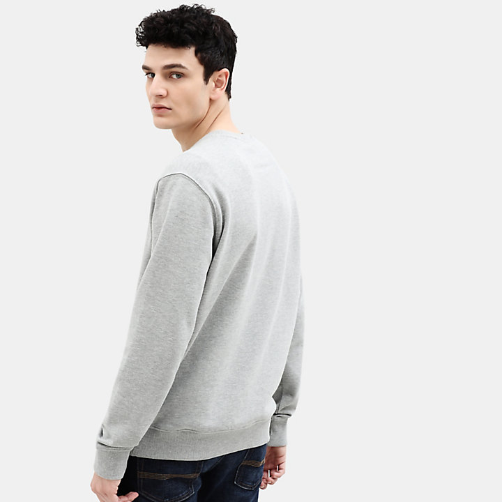 Tree Sweatshirt for Men in Light Grey-