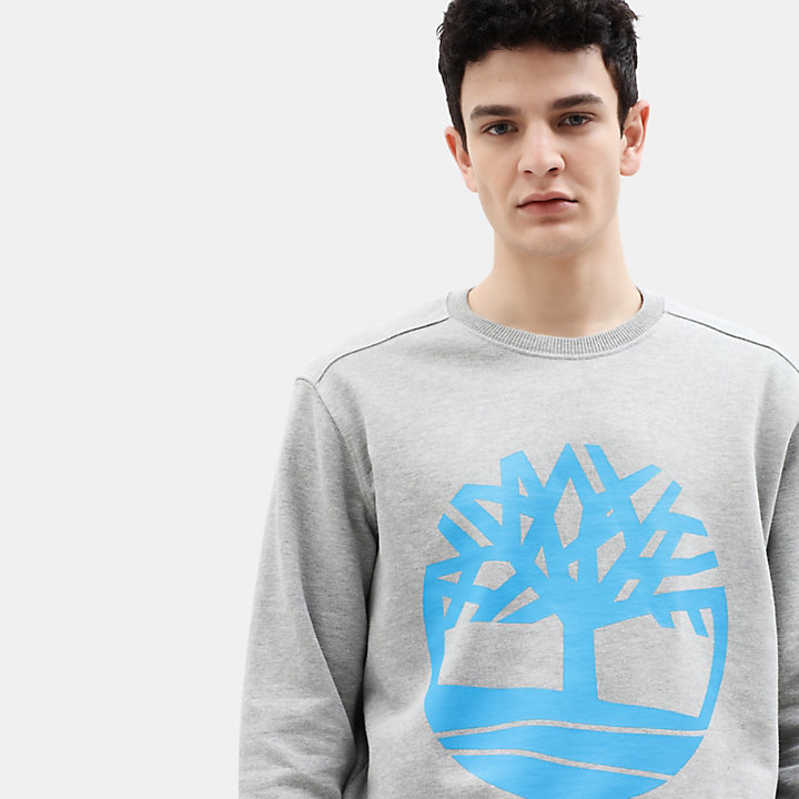 Tree Sweatshirt für Herren in Hellgrau-