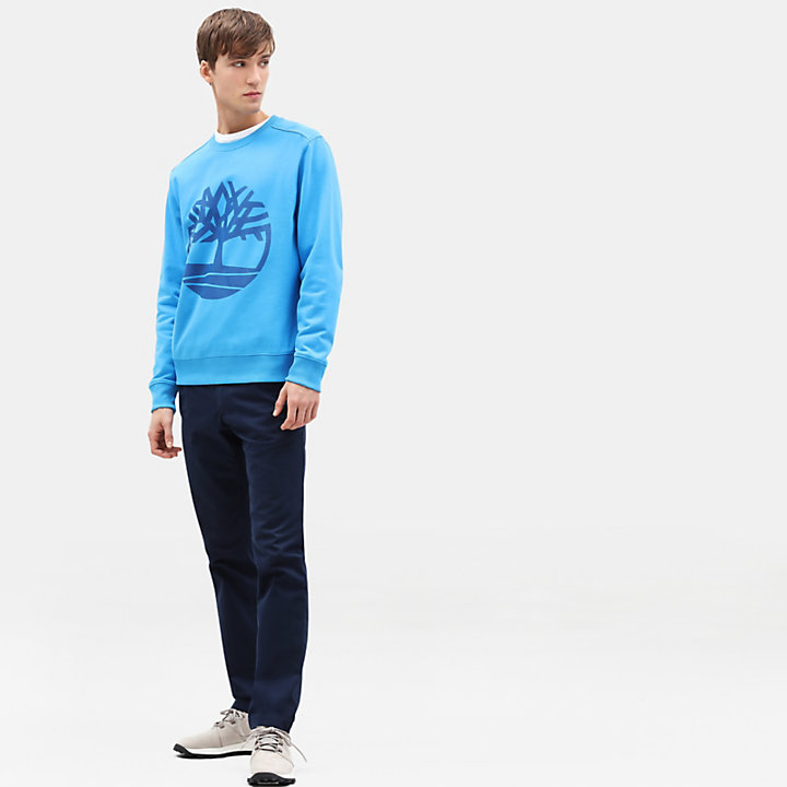 Tree Sweatshirt for Men in Blue-