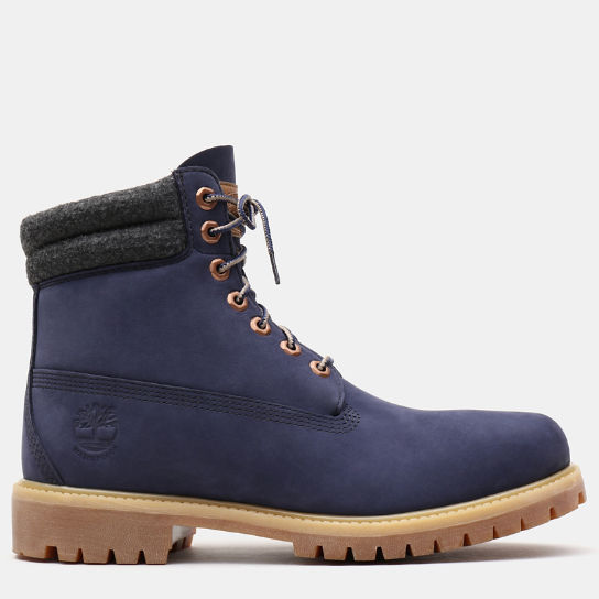 6 Inch Double Collar Boot voor Heren in marineblauw | Timberland