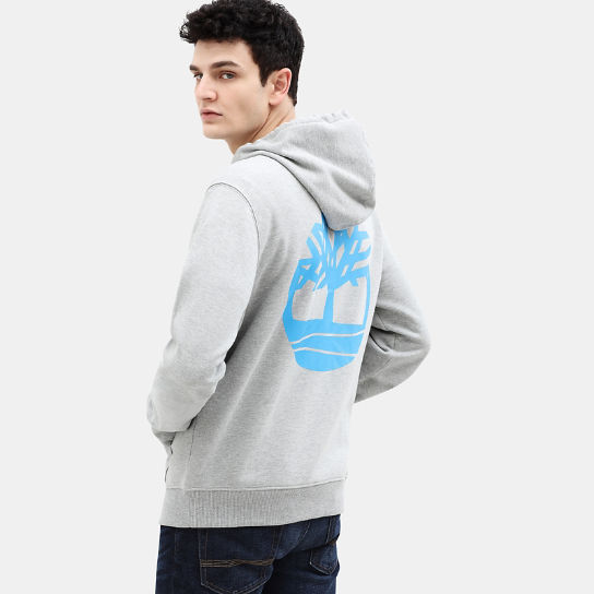 Core Tree Logo Full Zip Hoodie for Men in Grey | Timberland