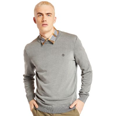 Manhan+River+Organic+Cotton+Sweater+for+Men+in+Grey