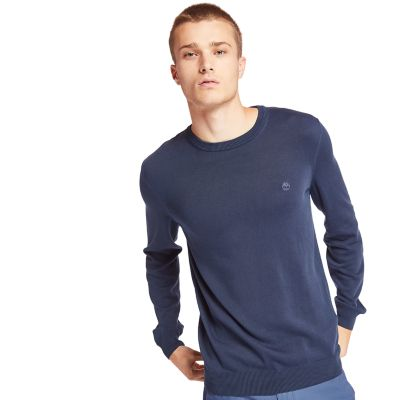 Manhan+River+Organic+Cotton+Sweater+for+Men+in+Navy
