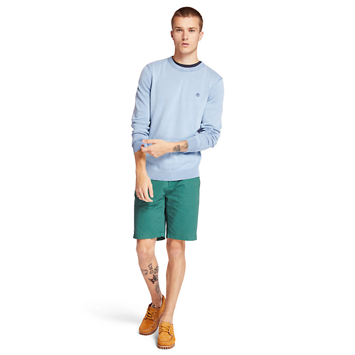 Manhan River Organic Cotton Sweater for Men in Blue-