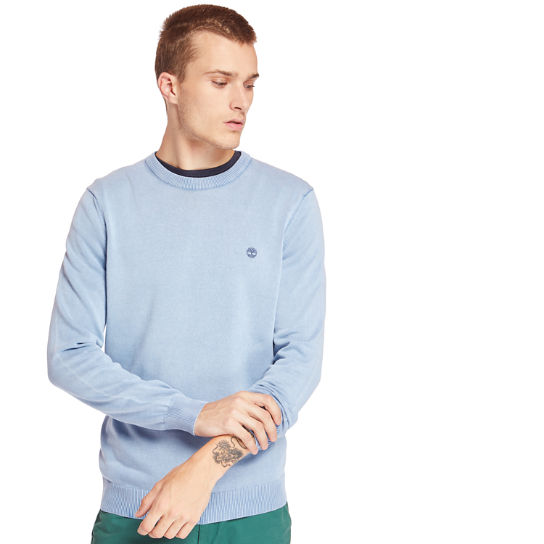 Manhan River Organic Cotton Sweater for Men in Blue | Timberland