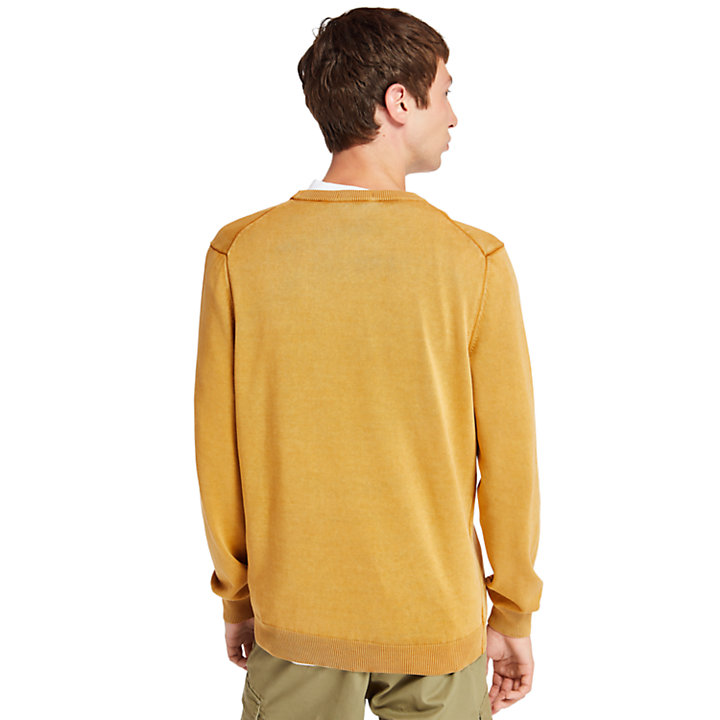 Manhan River Organic Cotton Sweater for Men in Yellow-