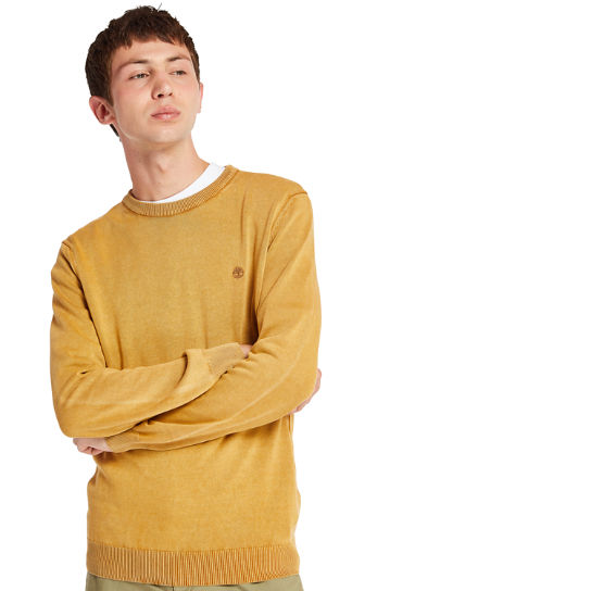 Manhan River Organic Cotton Sweater for Men in Yellow | Timberland