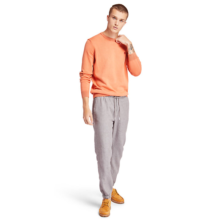 Manhan River Organic Cotton Sweater for Men in Orange-