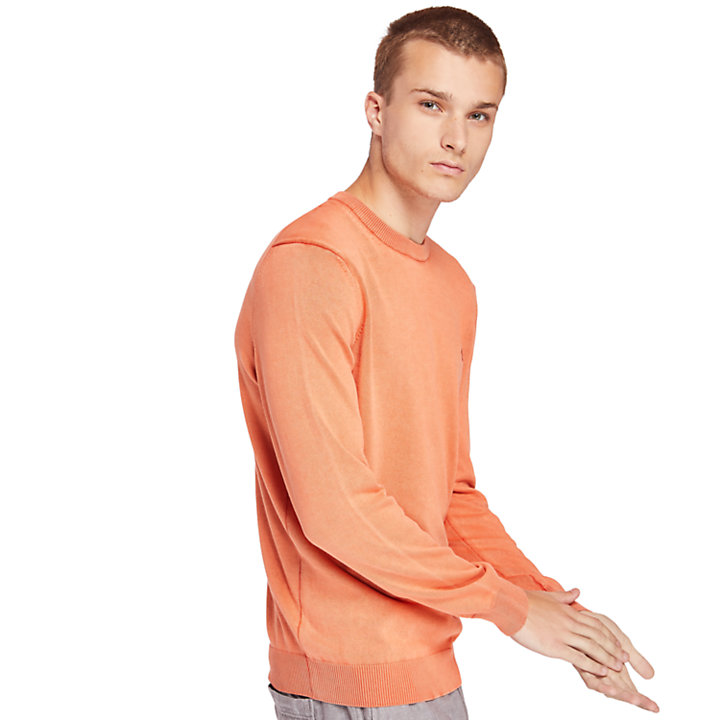 Manhan River Pullover aus Bio-Baumwolle für Herren in Orange-