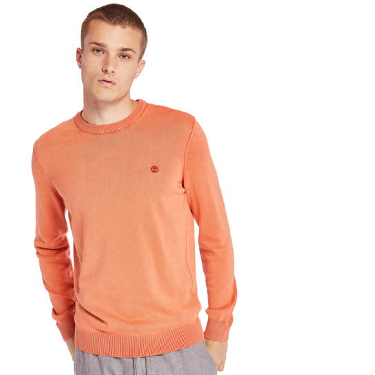 Manhan River Organic Cotton Sweater for Men in Orange | Timberland
