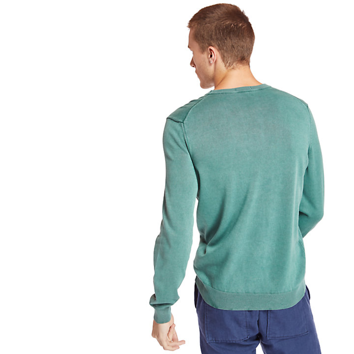 Manhan River Organic Cotton Sweater for Men in Green-