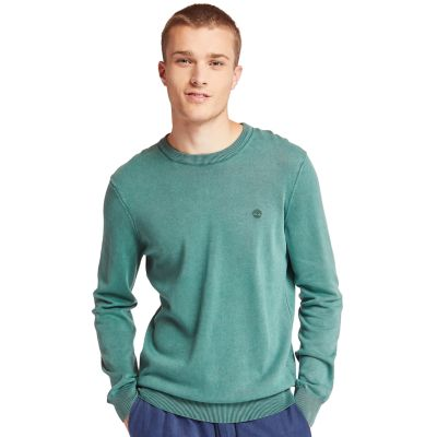Manhan+River+Organic+Cotton+Sweater+for+Men+in+Green
