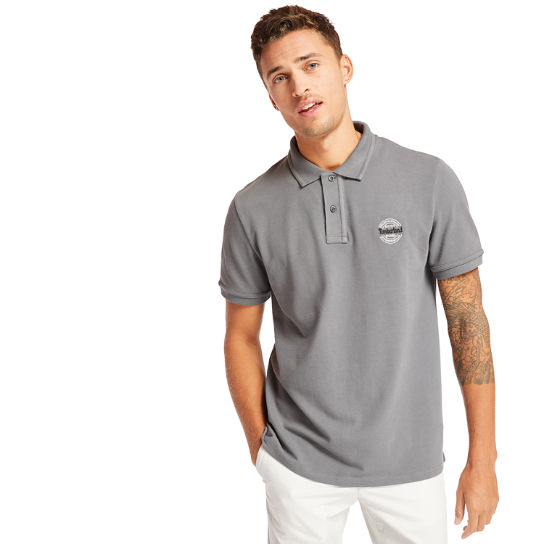 Millers River Graphic Polo Shirt for Men in Grey | Timberland