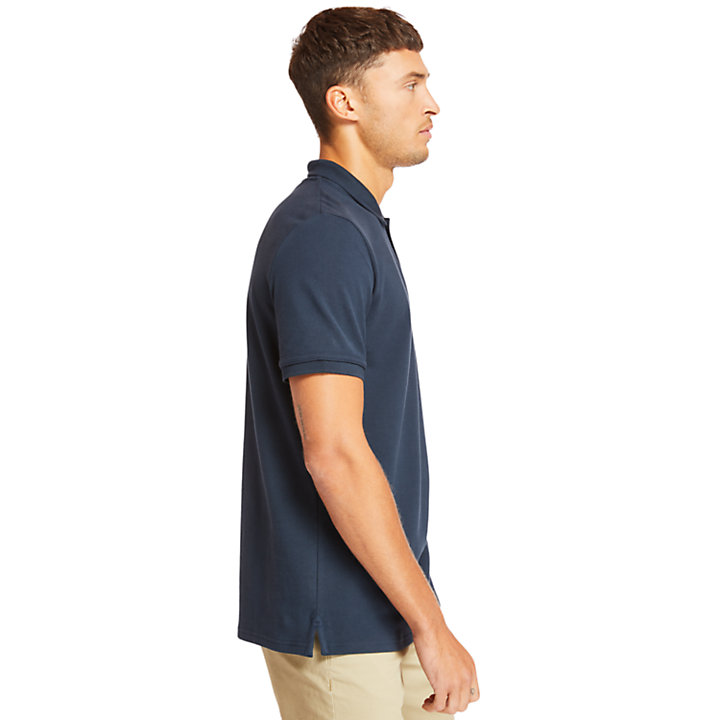 Millers River Graphic Polo Shirt for Men in Navy-