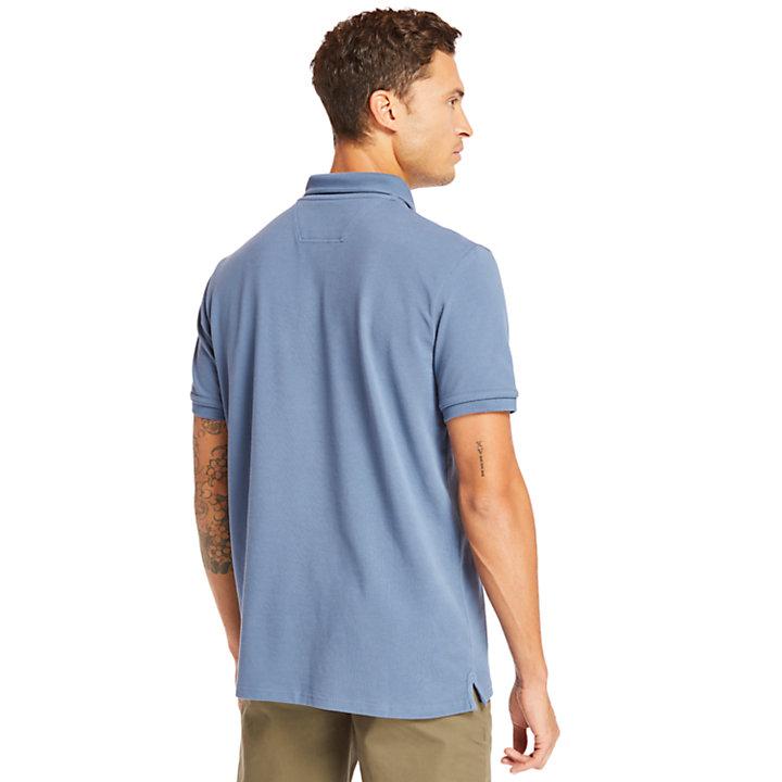 Millers River Graphic Polohemd für Herren in Blau-