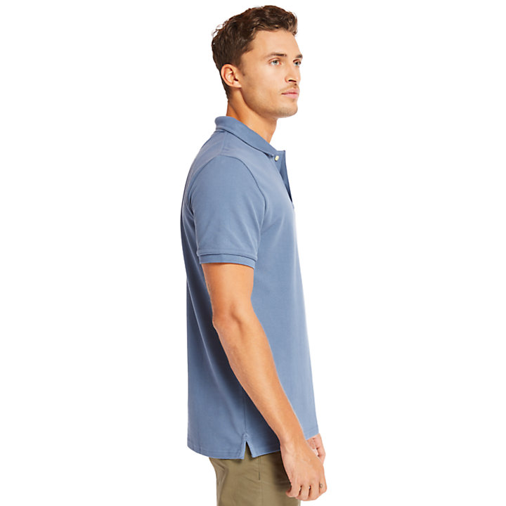 Millers River Graphic Polo Shirt for Men in Blue-