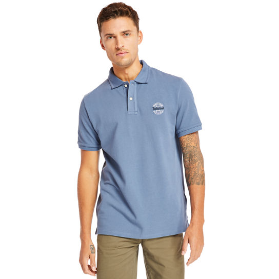 Millers River Graphic Polo Shirt for Men in Blue | Timberland