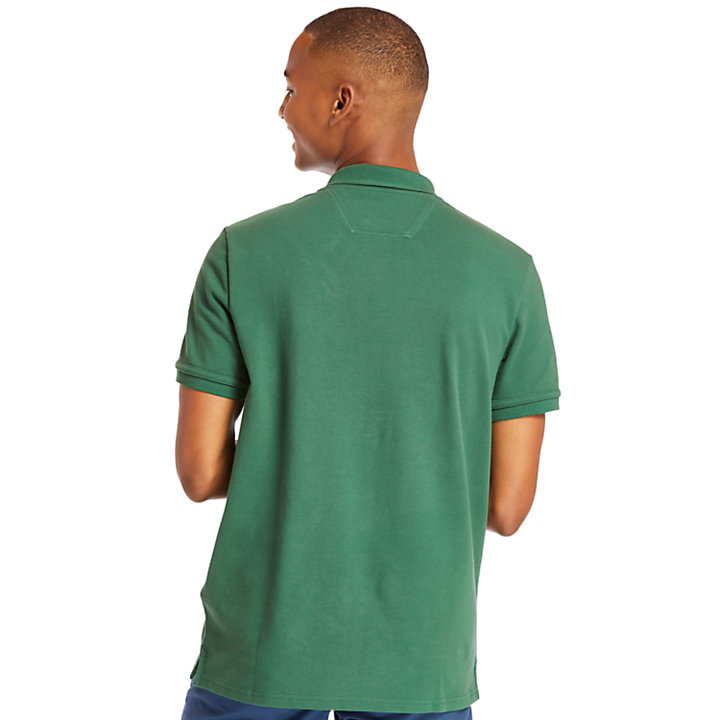 Polo da Uomo Millers River Graphic in verde-