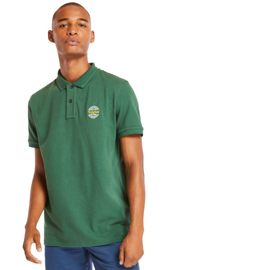 Millers River Graphic Polo Shirt for Men in Green | Timberland