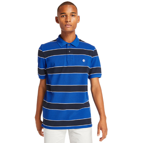 Millers River Striped Polo Shirt for Men in Blue | Timberland