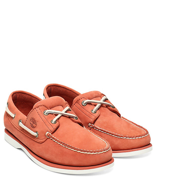 Classic 2-Eye Boat Shoe for Men in Red-