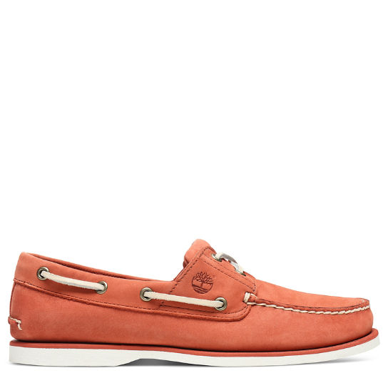 Classic 2-Eye Boat Shoe for Men in Red | Timberland