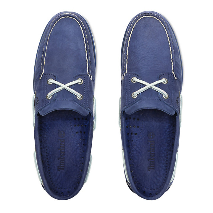 Classic 2-Eye Boat Shoe for Men in Blue-